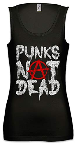 Urban Backwoods Punks Not Dead II Mujer Camiseta Sin Mangas Women Tank Top Negro Talla L