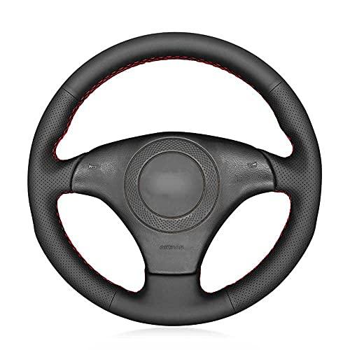 MPOQZI Cubierta de Volante de Coche Cosida a Mano Cuero Negro, Apto para Audi TT 8N 1998-2001 A8 S8 D2 1998-2002 S4 B5 S6 C5 S8 D2 A8 D2