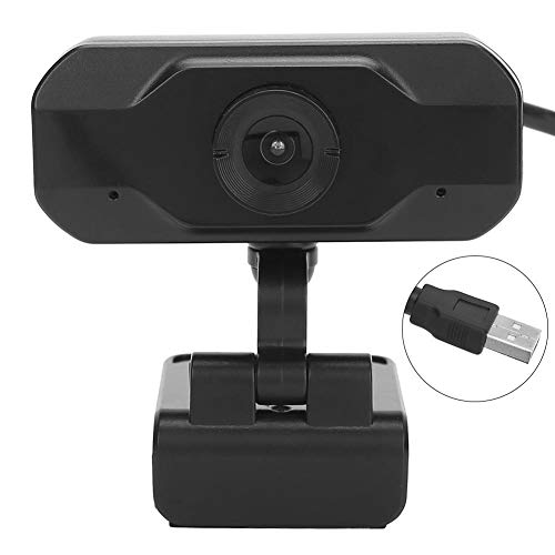 143 HD Webcam, 720P Computer Camera USB Web Camera for Online Class Live Meeting for Skype Zoom for PC Laptop with Intelligent Noise Reduction Microphone