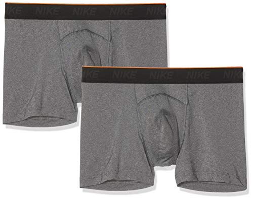 Nike Herren M NK Brief Trunk 2PK Boxer, Anthracite, M