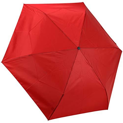 Dr. Neuser Supermini Extra Light leichter Doppel Automatik Regenschirm Schirm Umbrella 220, Farbe:Rot