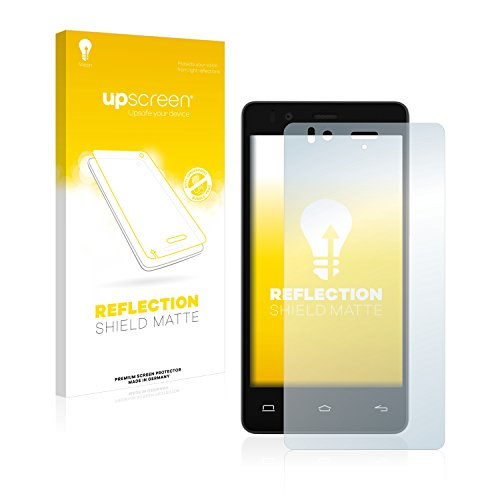 upscreen Entspiegelungs-Schutzfolie kompatibel mit BQ Aquaris E4.5 Ubuntu Edition – Anti-Reflex Bildschirmschutz-Folie Matt