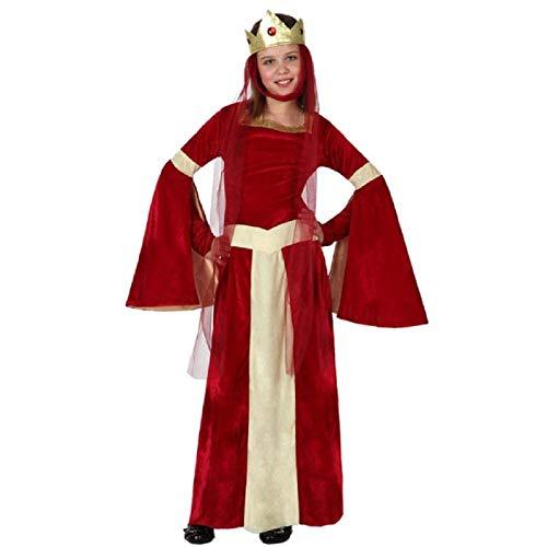 ATOSA disfraz reina medieval niña infantil rojo 10 a 12 años