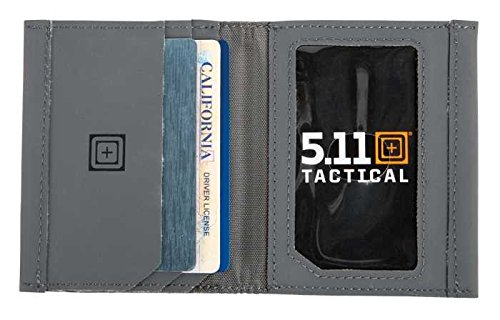 5.11 TACTICAL SERIES GUSSETED CARD CASE Porta carte di credito, 10 cm, Grigio (Storm)