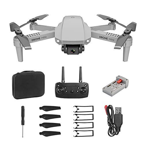 NLRHH E con 4K HD Cámara Video en Vivo y GPS Return Home Quadcopter para Adultos Principiantes con Motor sin escobillas, Sígueme, Transmisión de WiFi, Vuelo de 10 Minutos Peng (Color : Gray30W)
