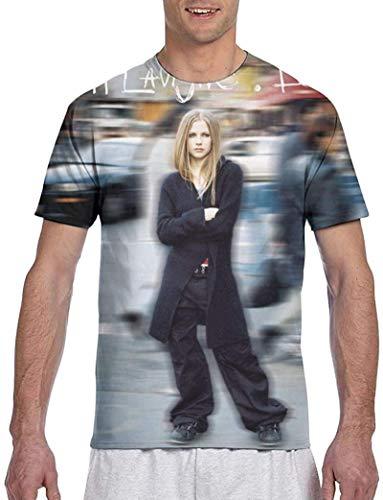 WFYY Avril Lavigne Men Unique 3D Double-Sided Print Design Comfort Short Sleeve T-Shirt