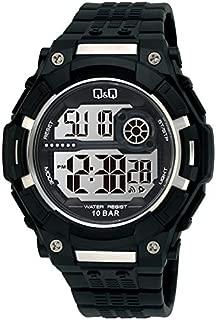 Q&Q Men's Grey Digital Dial Fiber Band Watch - M127J001Y
