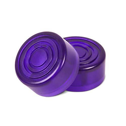 Geshig-Effektpedal Fußkappen für E-Gitarre, 10 Stück violett