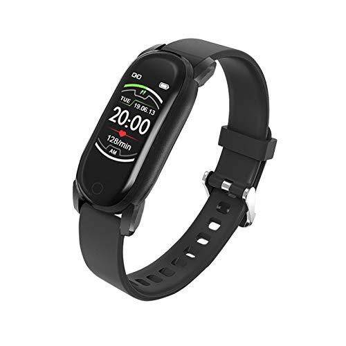 GZA Women Smart Watch Impermeable Tasa del Corazón Monitor Monitor Fitness Tracker Muñequera De Lujo SmartWatch Smart Reloj para Android iOS (Color : Black)