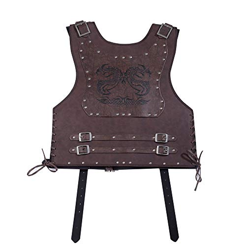 Leather Body Armor, Studdded Leather Breastplate, Functional Leather Cuirass for LARP, Cosplay, Renaissance and Medieval Fairs Black