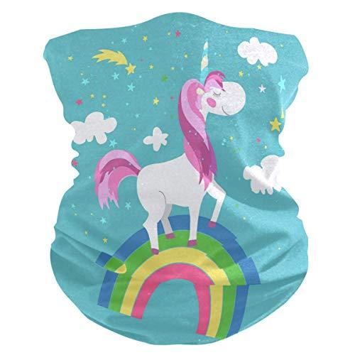 Anti Gota Protección UV Mascarilla Hada Unicornio Rainbow Ropa Cuello Polaina Bufanda Protector solar Bandana transpirable