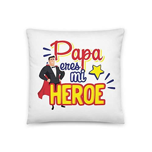 Kembilove Cojin para Padre – Cojines Padres con Frases Graciosas Papa Eres mi Heroe – Regalos Originales para el dia del Padre – Cojines Suaves y Comodos