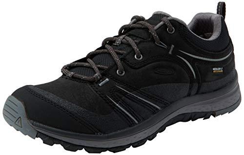 KEEN Damen Wanderschuhe Terradora Leather Waterproof Black/Steel Grey 35