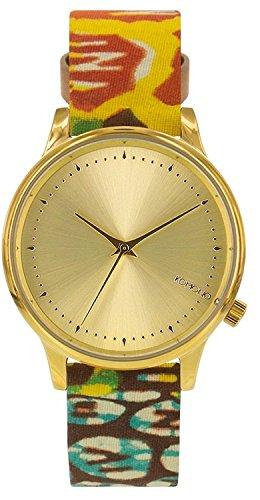 Komono Damen Analog Quarz Uhr mit Leder Armband KOM-W2851