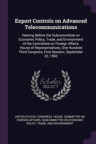 EXPORT CONTROLS ON ADVD TELECO: Hearing...