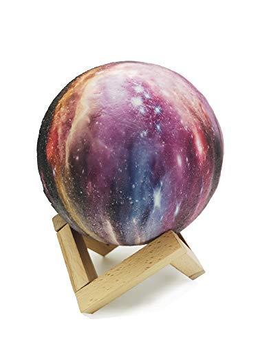 Lampe décorative originale 3D Lune 16 couleurs - Lampe décorative rechargeable - Lumière d'ambiance - Veilleuse de table - ciel étoilé