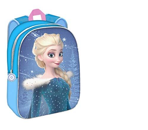 Mochila Disney Frozen Elsa y Ana con Dos Imágenes Lentejuelas Reversibles 30 cm. Toybags 2018