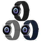 WNIPH 20mm Cinturino per Samsung Galaxy Watch Active 2/Active 40mm 42mm, Cinturino di Ricambio Elastico in Tessuto di Nylon per Galaxy Watch 3 41mm/Gear S2 Classic/Gear Sport/Vivoactive 3/Vivomove HR