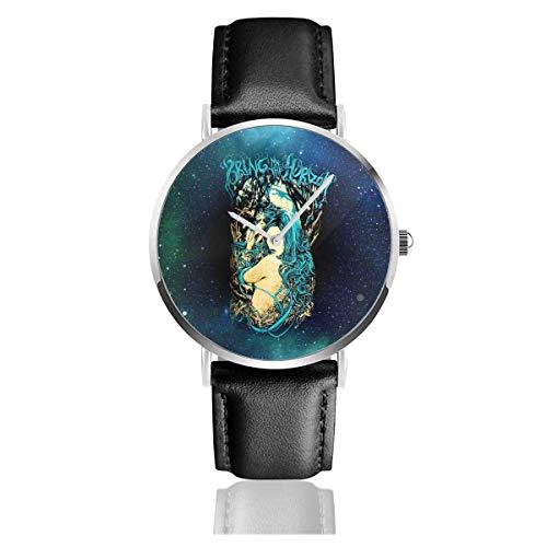 Bring Me The Horizon Forest Reloj de Cuarzo Informal de Acero Inoxidable y Cuero para Adolescentes, niños, Estudiantes, Regalo