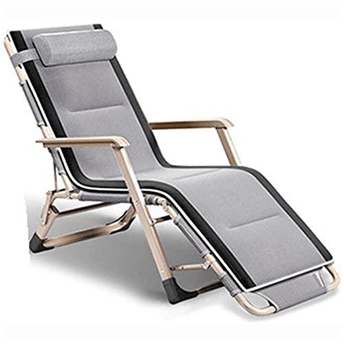 CHLDDHC Sillón reclinable para Exteriores, Escritorio Plegable de algodón inclinable, sofá de Ocio, Almuerzo de Dos Lados, terraza reclinable, jardín de Gravedad Cero
