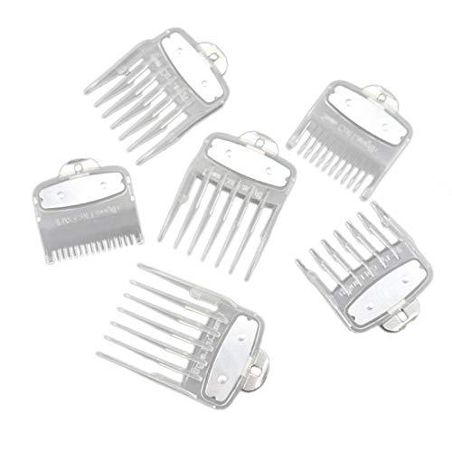 Liseng Lot de 6 accessoires pour tondeuse à cheveux Transparent