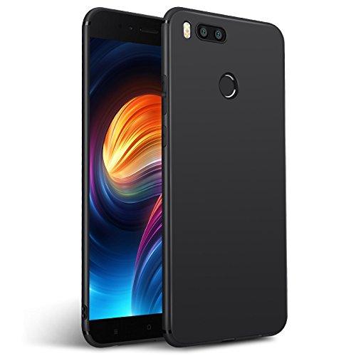 Olliwon Xiaomi Mi A1 Hülle, Passexaktes Anti-Fingerabdruck Dünn Leicht Ultra Slim Schutz Handyhülle Bumper Hülle für Xiaomi Mi A1 - Matt Schwarz