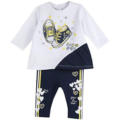 Chicco Completo t-Shirt + Leggings Camiseta Mallas, 88, 92 para Bebés