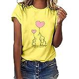 Darringls Maglietta Manica Corta Donna Estiva Elegante Camicia,T-Shirt da Donna Maglie Don...
