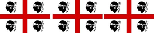 Etaia 2,5x4 cm - 3 x Mini Aufkleber Fahne/Flagge von Alt Sardinien Sardegna Europa Länder Sticker Auto Fahrrad Motorrad Bike auch für Dampfer E-Zigarette Sisha