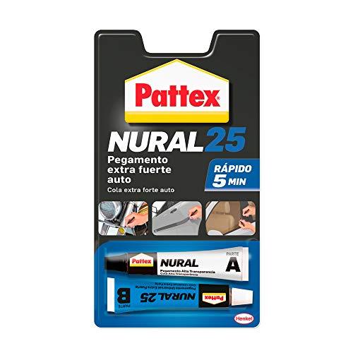Pattex Nural 25 Pegamento extra fuerte auto, adhesivo resistente para la mayoría de materiales del automóvil, para coche rápido, 2 x 11 ml