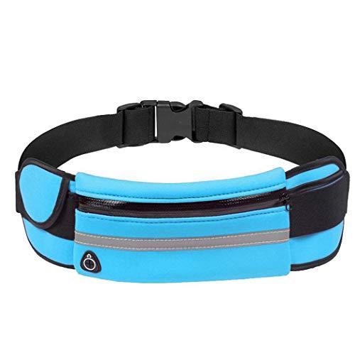 Yuikled Bolsa de Cintura de Teléfono Riñoneras Antirrobo Impermeable con Orificio para Auriculares para Correr al Aire Libre