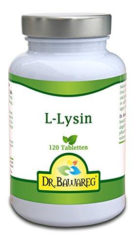 L-Lysin - 120 Tabletten je 1000mg - Amino Essential - Dr. Bawareg