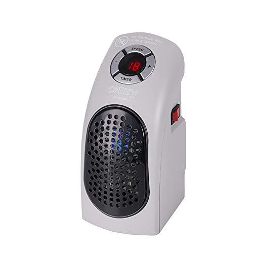 Camry CR 7715 stille ventilatorkachel met twee standen, LED, 700 W, keramische radiator, energiebesparende verwarming voor thuis, badkamer, kinderkamer, reis, camping, klein