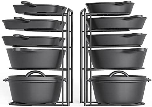 2 Pack - Heavy Duty Pot Rack Organizer,