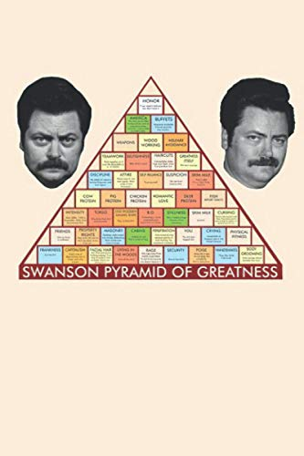 Ron Swanson's Pyramid Of Greatness Notebook: (110 Pages, Lined, 6 x 9)