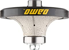 """For 1"""" radius demi-bullnose / roundover; Fits on polishers/ grinders with 5/8""""-11 thread spindle; The nylon guide assure the profiled edge remains straight; Utilizing vacuum brazed diamond technology; Wet or dry application, optimal speed 3,500- 4,00..."""