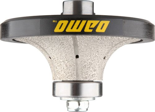 DAMO B25 1 inch Demi Bullnose Half Bullnose Roundover Diamond Hand Profiler Router Bit Profile Wheel with 5/8-11 Thread for Granite Concrete Marble Countertop Edge