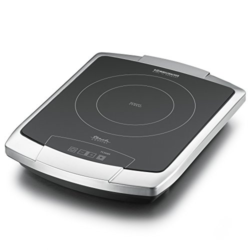Rommelsbacher CT Switch vitrocéramique plaque de cuisson simple, acier inoxydable Commande tactile 2200 Watt