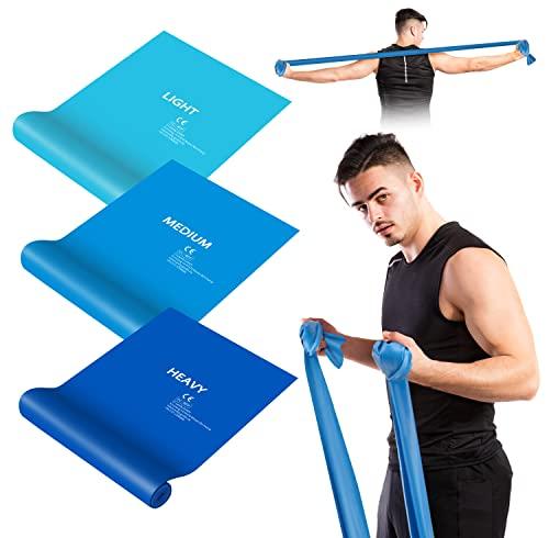 elastici fitness banda Bande Elastiche Fitness,[3 Pezzi] Fasce Elastici con 3 Livelli di Resistenza