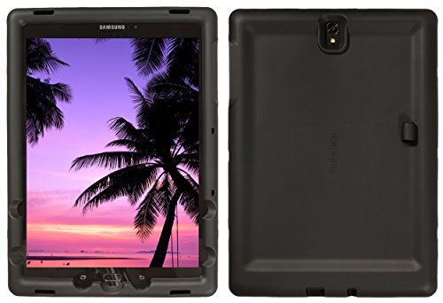 Bobj Rugged Case for Samsung Galaxy Tab S3 9.7, SM-T820, SM-T825, SM-T827, SM-T827V - BobjGear Custom Fit - Patented Venting - Sound Amplification - BobjBounces Kid Friendly (Bold Black)