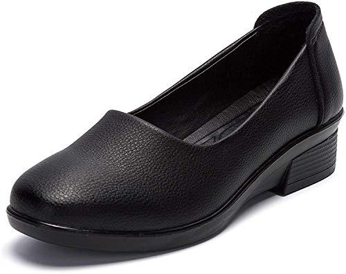 [Nomioce] レディースシューズ ナースシューズ レディース安全靴 パンプス ウォーキングシューズ 通勤 モカシン 軽量 疲れにくい 長時間立ち仕事 大きいサイズ 履きやすい 黒1 23.5cm
