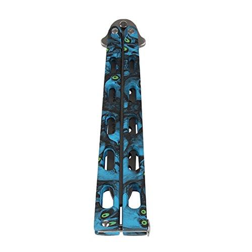 Andux Zone Couteau papillon en acier inoxydable Épaisseur importante, 11-HDD-001, bleu