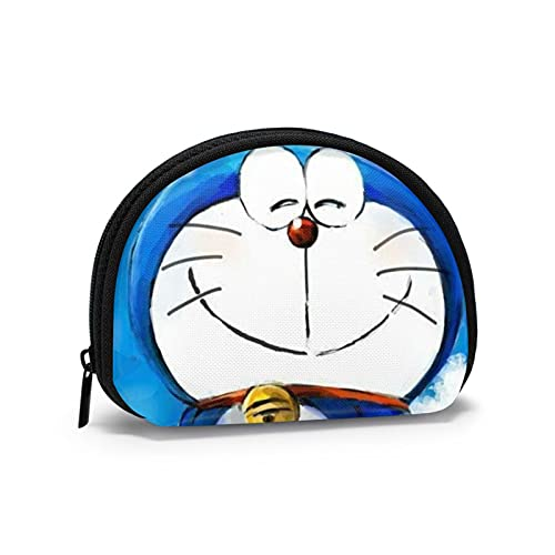 Doraemon Kawaii japonés lindo monedero con cremallera dinero chang bolsa mini Shell en forma de cartera para mujeres y niñas