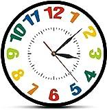 Reloj de pared grande Reloj de cocina Números árabes color