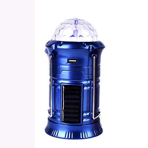 ZHOUZEKAI Farol de Camping, unidades Lámpara de Camping plegable Led con 2 modos iluminación Linterna Portátil exterior con Batería, Impermeable, anti-cáida para camping (Azul)