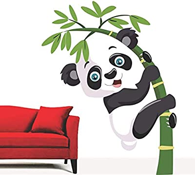 Impression Wall Decor Panda Wall Sticker Design (Cover Area :- 43 X 56 cm)