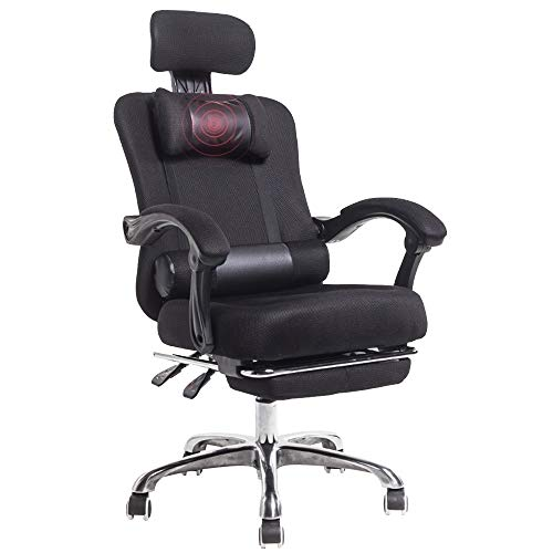Axdwfd Chaise longue Chaise de bureau ergonomique d'ordinateur de bureau de chaise de jeu avec le repose-pieds 65 * 65 * 110-120cm (Couleur : NOIR)