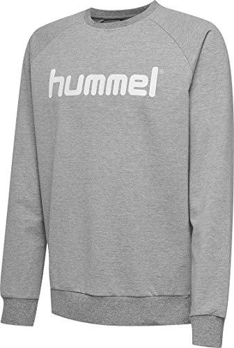 Hummel Sudadera Hmlgo de algodón con Logotipo para Hombre, Hombre, Sudadera, 203515-2006, Gris, Small