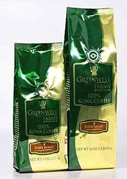 Greenwell Farms - 100% Kona Coffee - Dark Roast - 16oz - GROUND