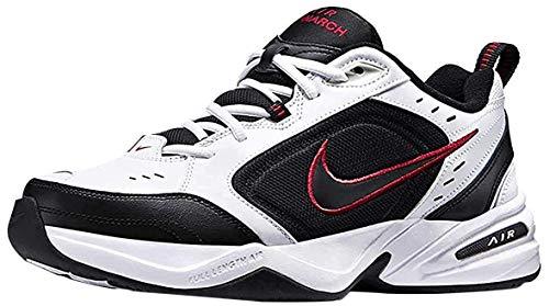 Nike Herren Air Monarch IV Fitnessschuhe, White Black Varsity Red, 44 EU